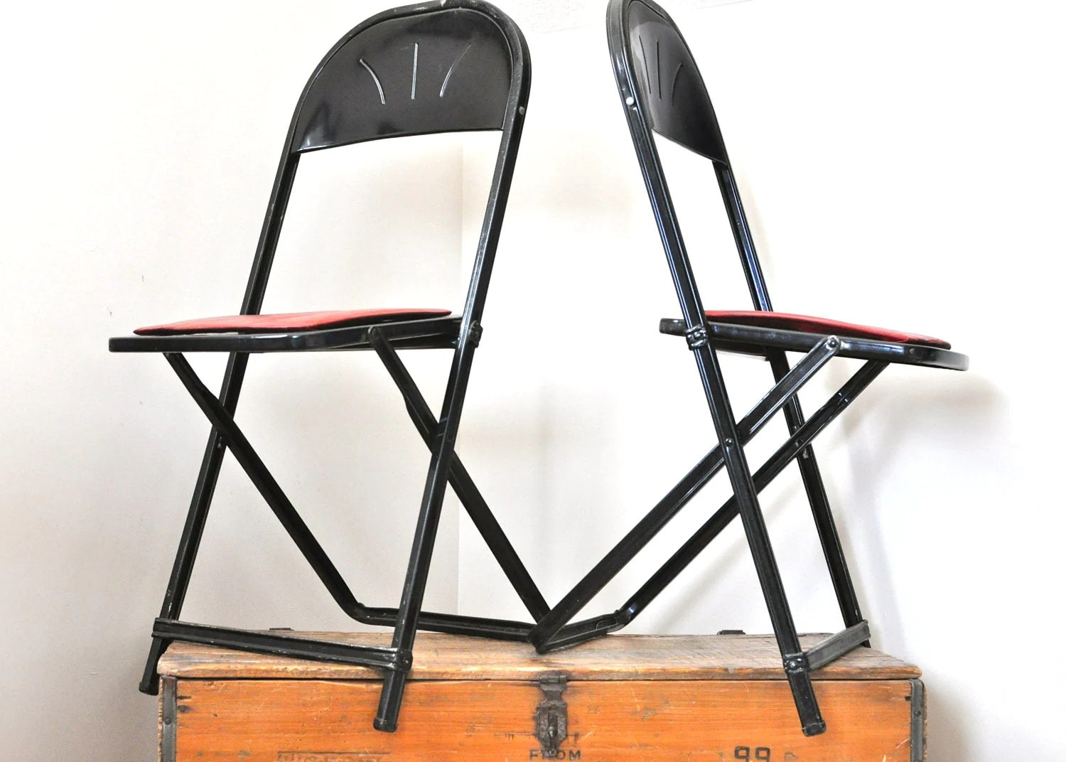 folding metal chairs kmart table and set vintage pair hampden specialty products