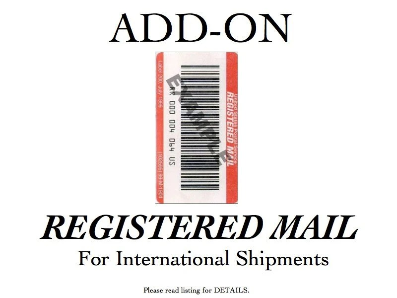 REGISTERED MAIL Add On INTERNATIONAL mail only