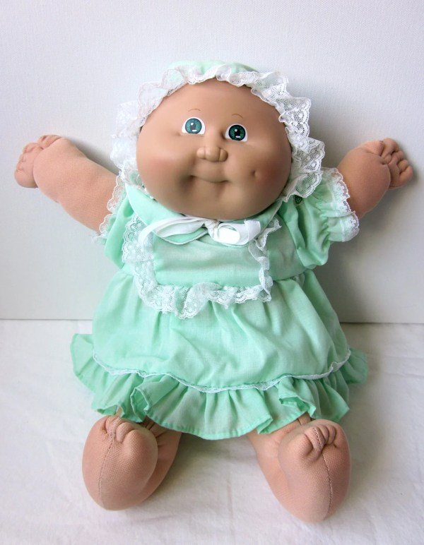 Vintage Cabbage Patch Kid Preemie Doll Blond Green Eyes
