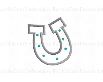 Popular items for horseshoe appliques on Etsy