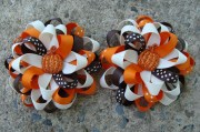 items similar fall hair bows