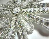 Sparkling Bridal Rhinestone and Sequin Hair Clip - MegansBeadedDesigns