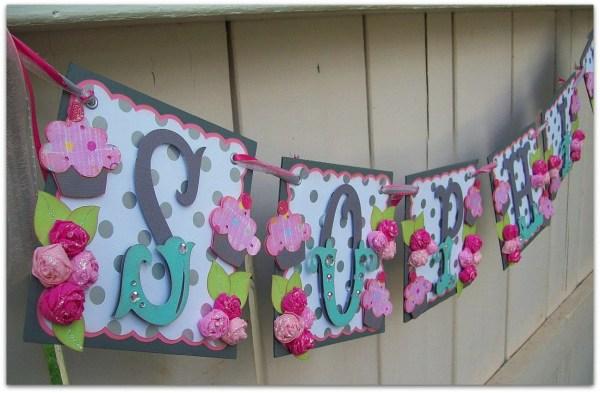 Handmade Banner Custom Green Happy