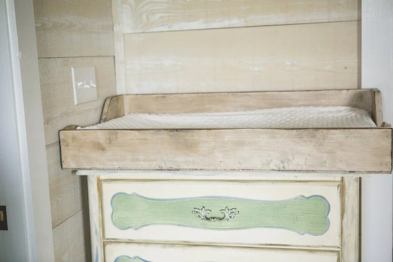 Items Similar To Distressed White Baby Changing Table
