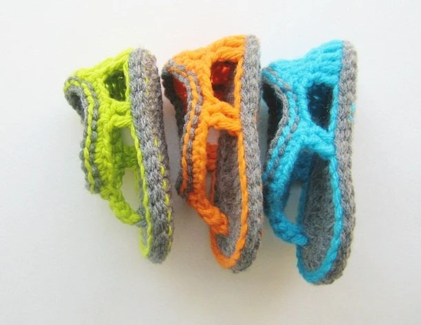 Crochet Sandals Pattern, Flip Flop Sandals Pattern for Baby Boys, Trekkers