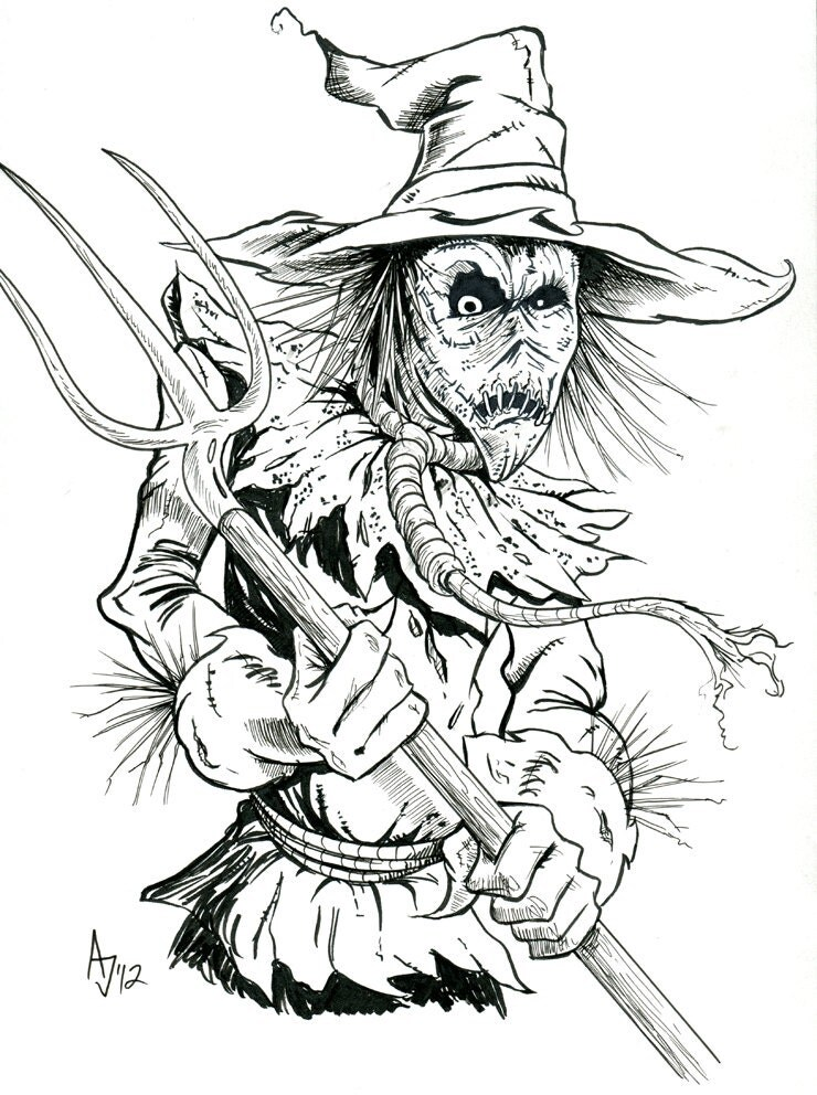 Items similar to Batman Villain, The Scarecrow on Etsy