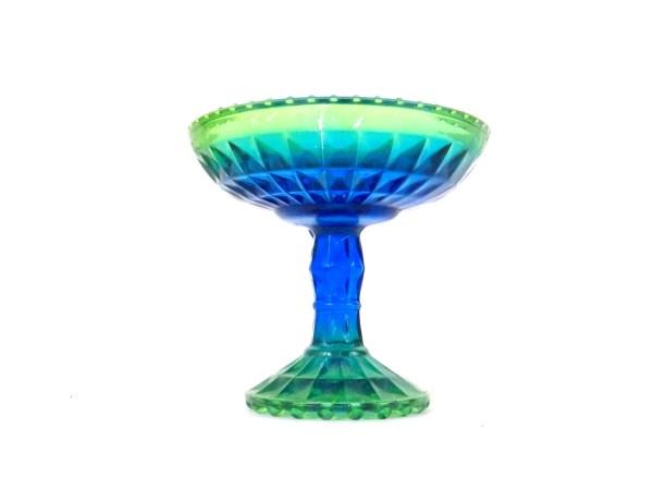 Candy Dish Glass Bowl Pedestal 1960s