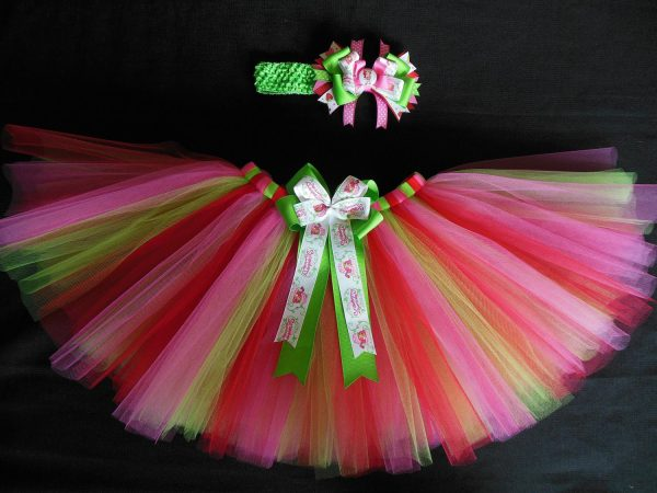 Strawberry Shortcake Tutu Set Custom Size Newborn-4t