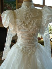 wedding dress opulent 1980s bridal