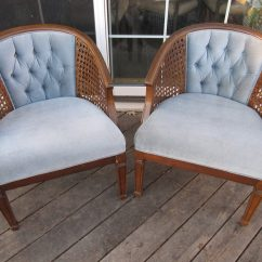 Cane Back Chairs Antique Deck Chair Plans Modern Pair Of Vintage Arm Tufted Barrel Reserved