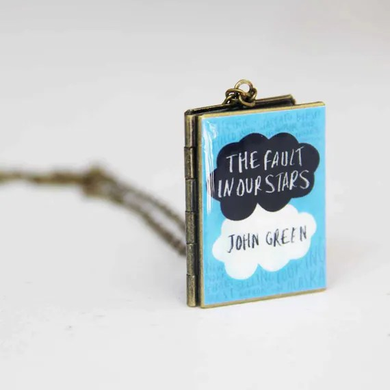 The Fault in our Stars book locket w/ chain (large)