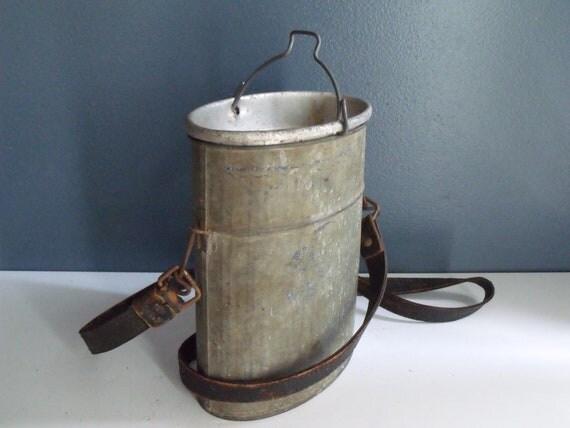 Old Pal Minnow Bait Bucket Small Oval Galvanized Aluminum