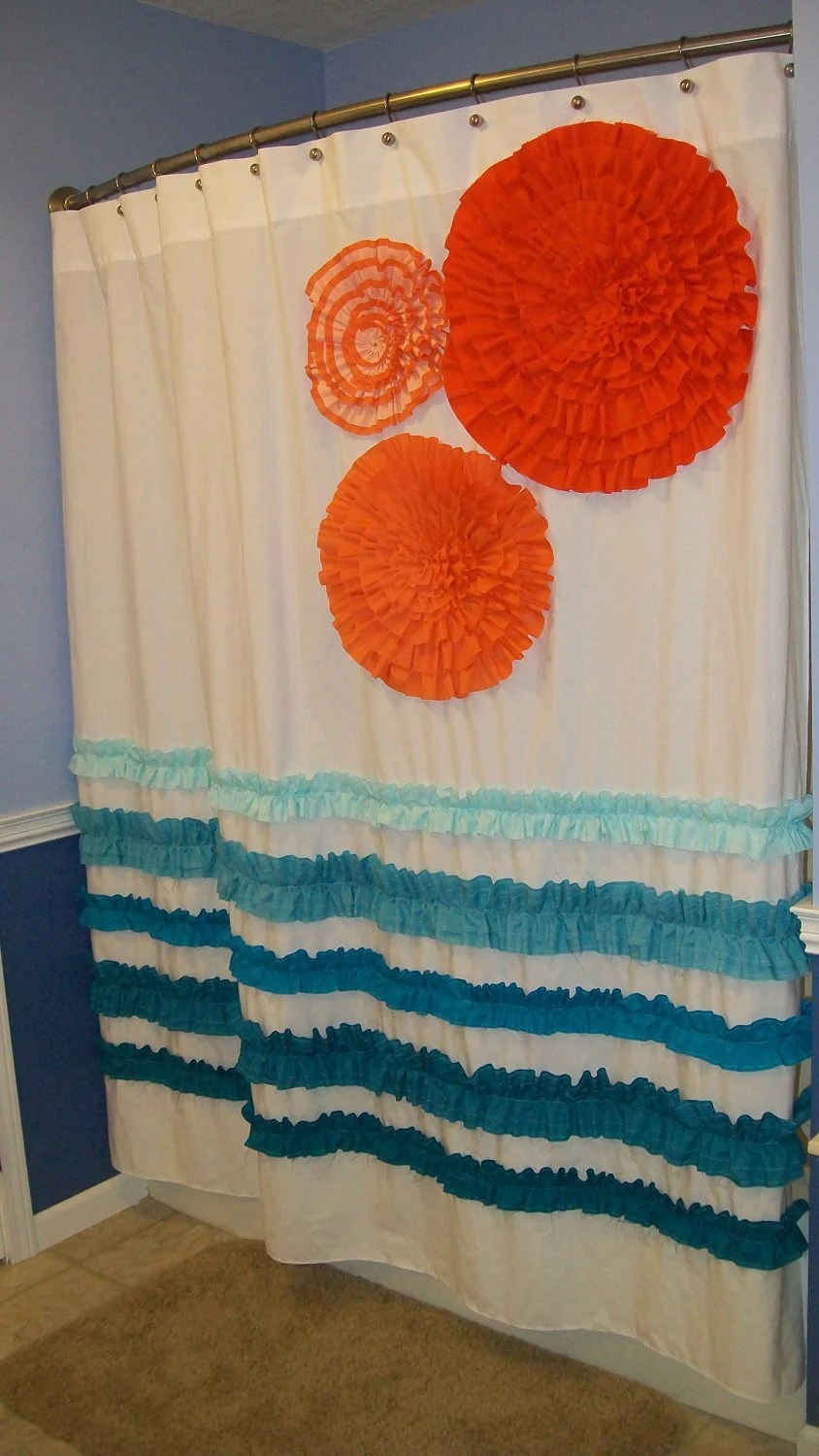 Orange Shower Curtain