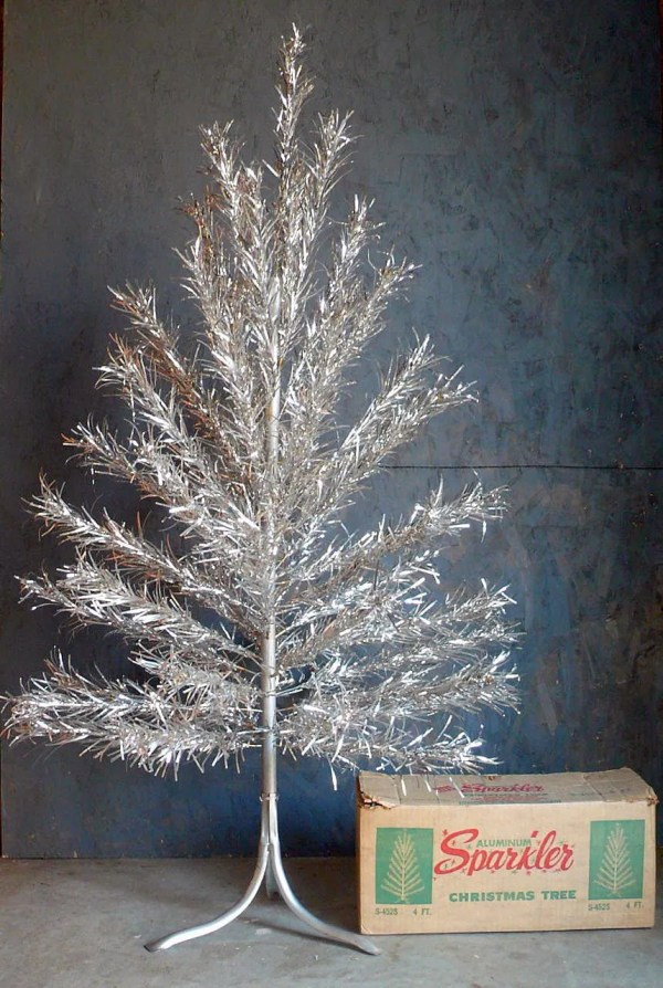 Vintage 4ft Aluminum Christmas Tree