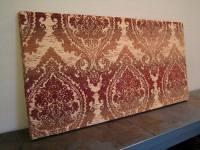 Fabric Panel Wall Art Brick Damask Ombre 36x18 by ...