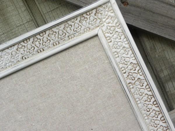Decorative Bulletin Board Antique White Framed Cork