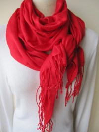 Solid plain red scarfpomegranate RED scarf viscose