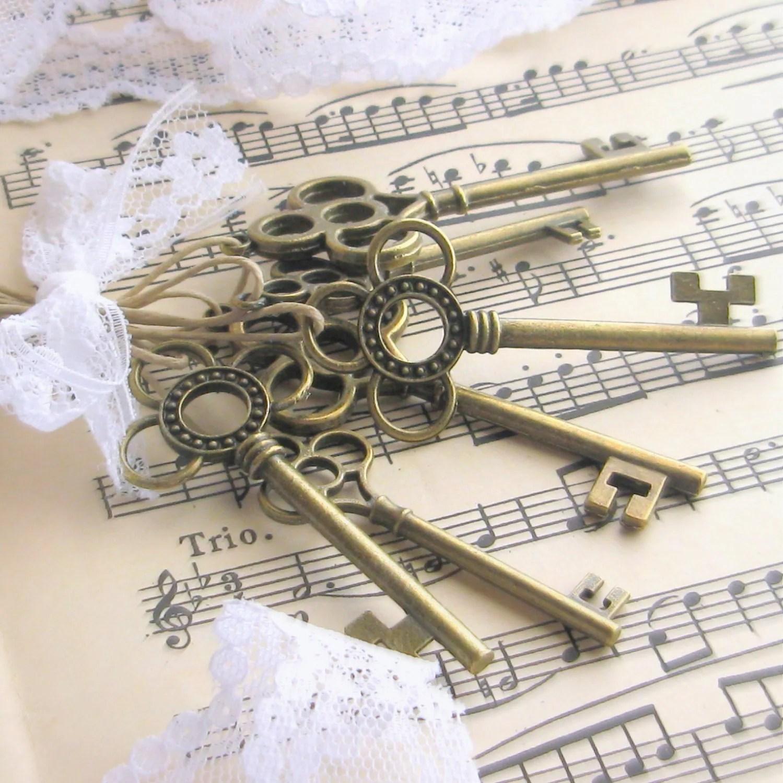 Skeleton key favors 25 skeleton key wedding favors by Artesenias