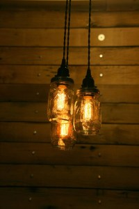ON SALE 3 Pint Jar Pendant Light Mason Jar Chandelier Light