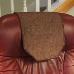 Chair Covers For Headrest Sheer Elegance Recliner Cover Chocolate Burlap