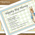 Diy peter rabbit baby shower invitation by abocustomdesign on etsy