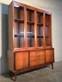 Mid-Century Danish Modern China Cabinet / Hutch / Bookcase