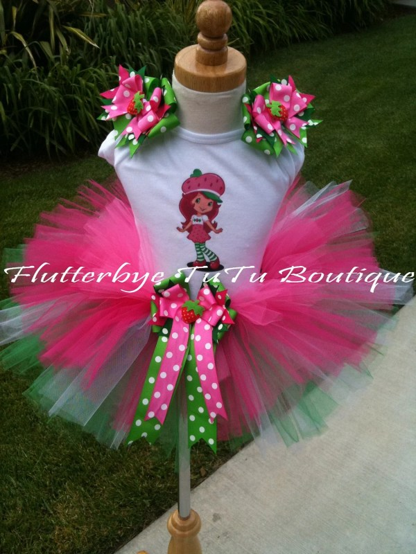 Strawberry Shortcake Costume Tutu Set Flutterbyetutu