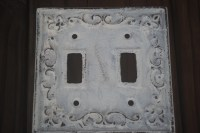 WHITE /Decorative Light Switch Plate/ Double by FromShab2Chic