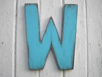Wooden Letters 12 inch W Shabby chic Wall Art Rustic decor