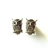 Owl Stud Earrings owl post earrings by AuntMatildasJewelry ...