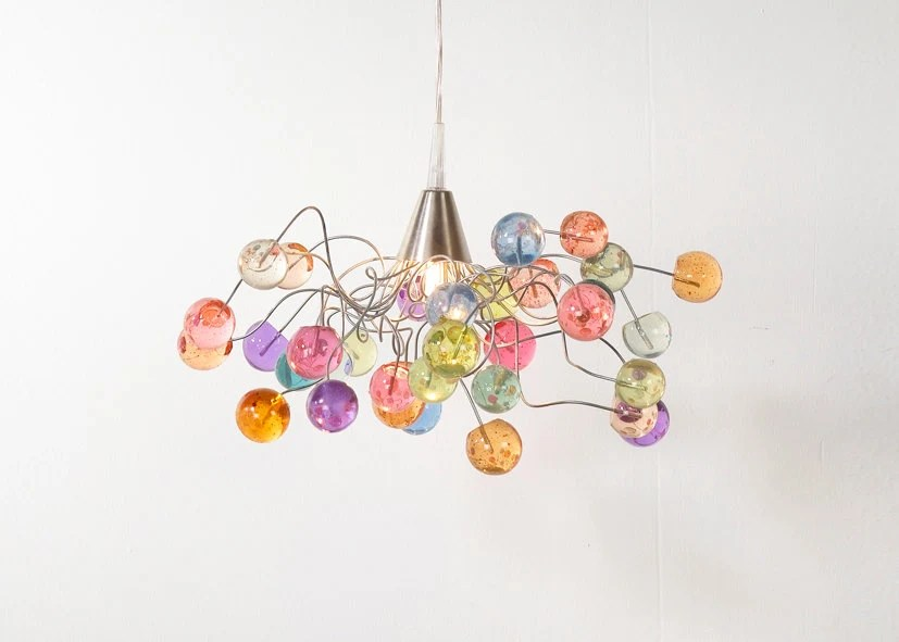 Ceiling light. Pastel color bubbles. - Flowersinlight