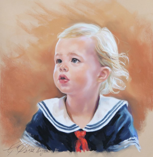 Child Pastel Portrait Painting