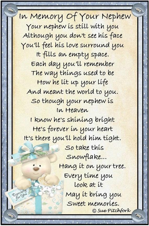 In Loving Memory Of Nephew Snowflake Ornament