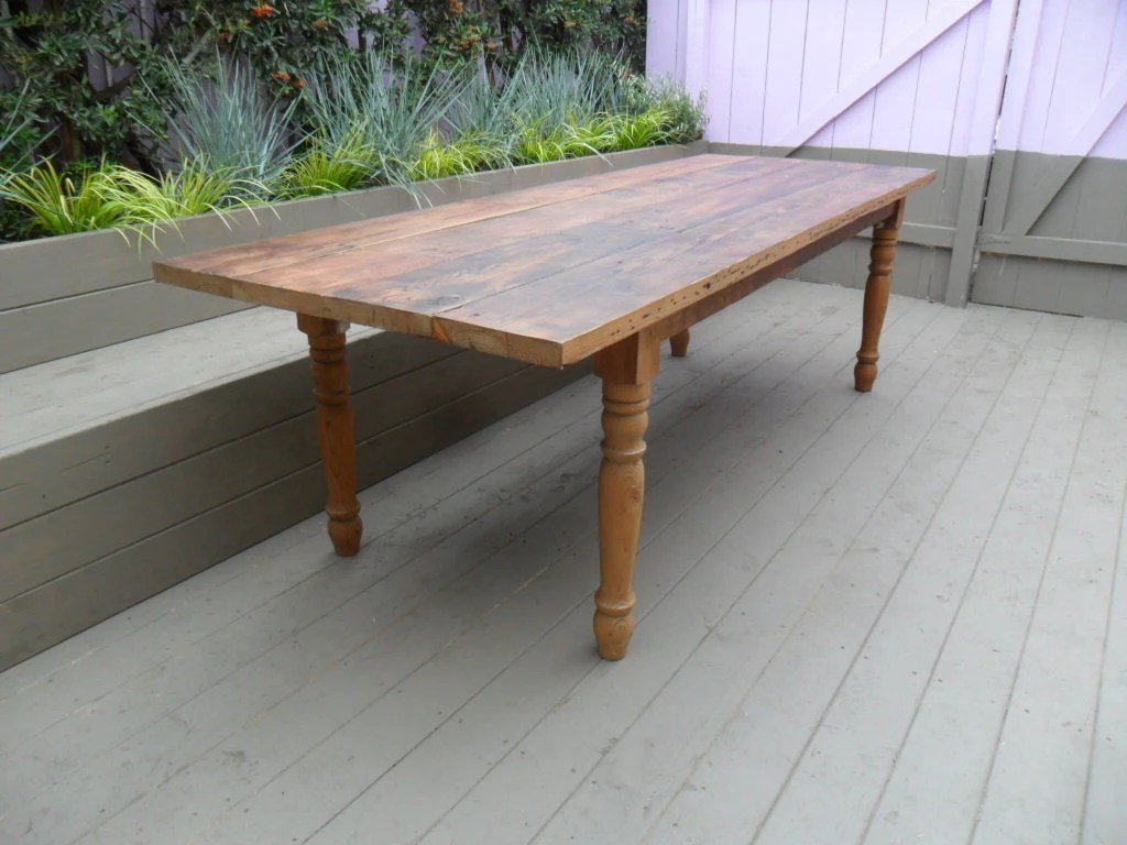 Reclaimed Wood Pine Dining Table. USA Made. From Reclaimed