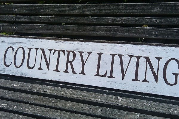 Country Living Sign Rustic Wood Farmhouse Style