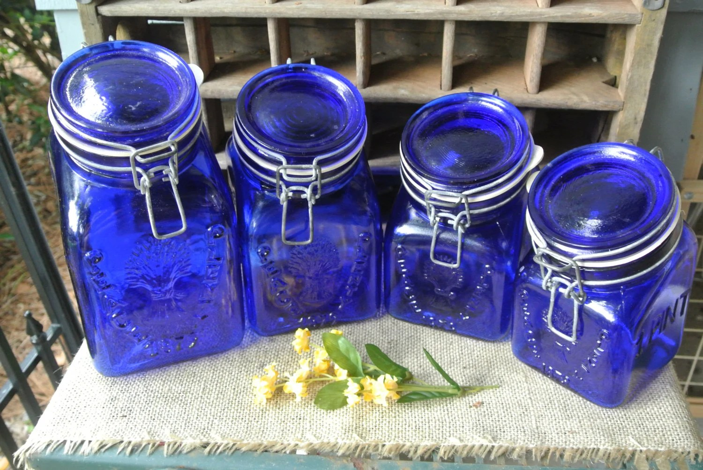 RESERVED for SARAH Vintage Cobalt Blue Crownford China Company