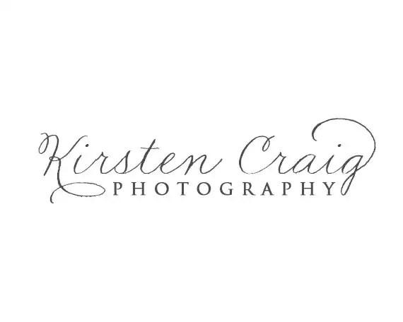 Calligraphy style photography Logo Design Custom Premade