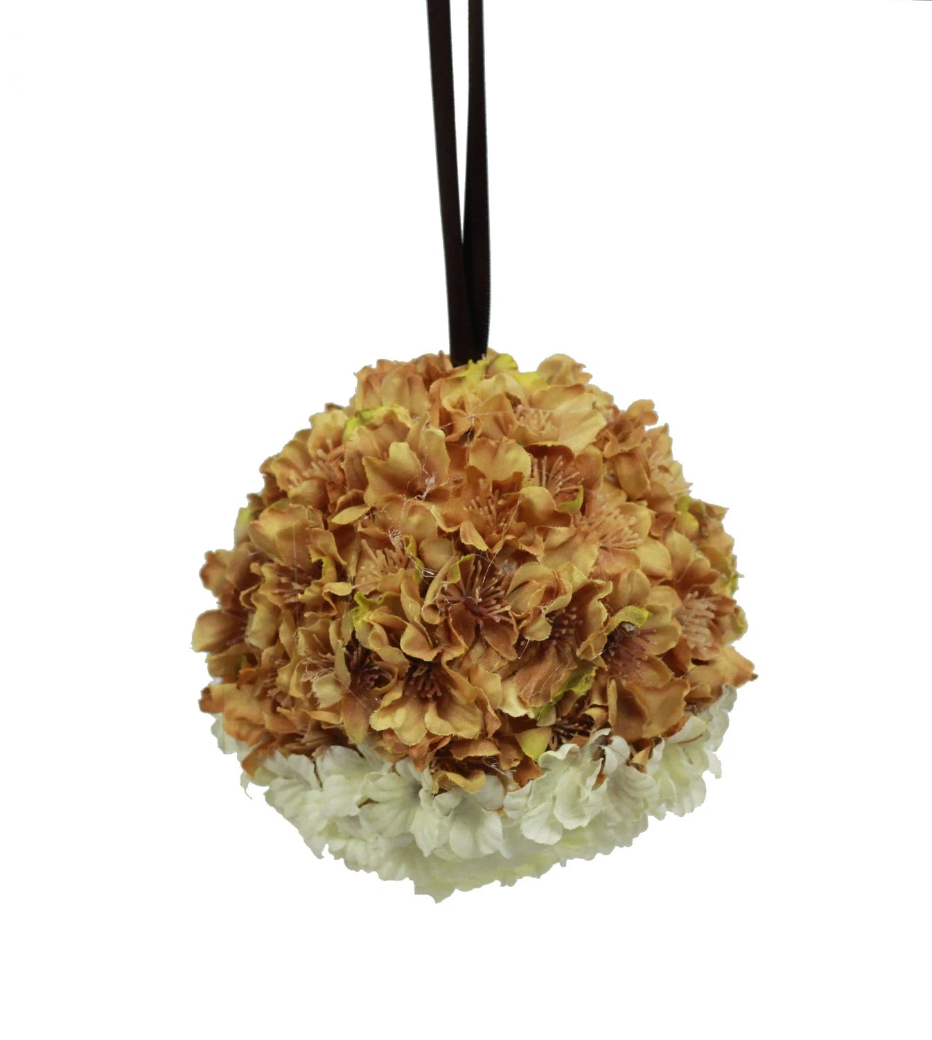 Kissing Ball Flower Girl Flower Ball Large Oranment Wedding Autumn Fall - FoundationCreations