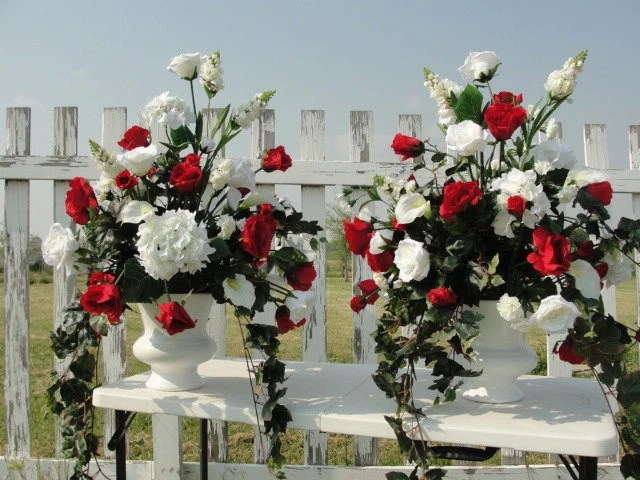 Wedding Church Altar Reception Epic Silk Flower Arrangements