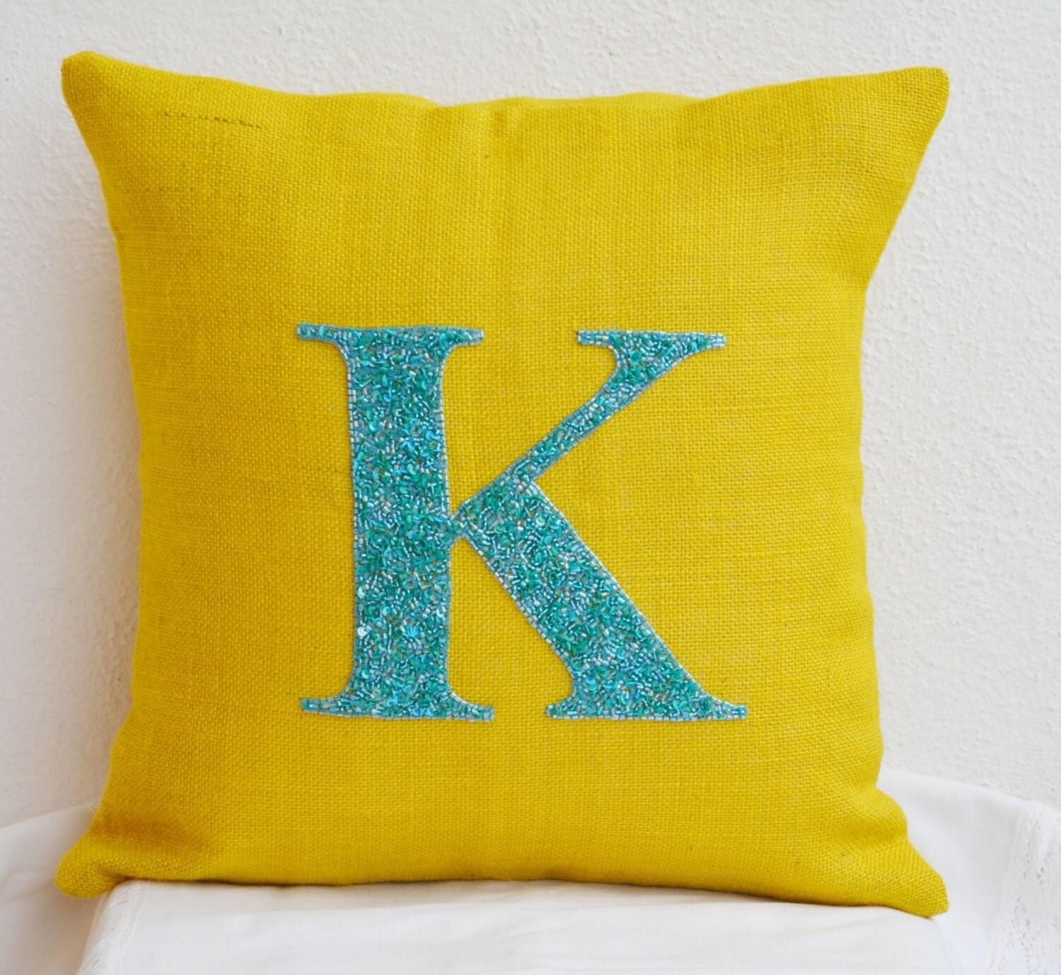 Personalized pillows Teal Aqua Monogrammed pillows Outdoor