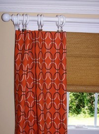 Items similar to CURTAINS ORANGE GEOMETRIC Collection Two ...