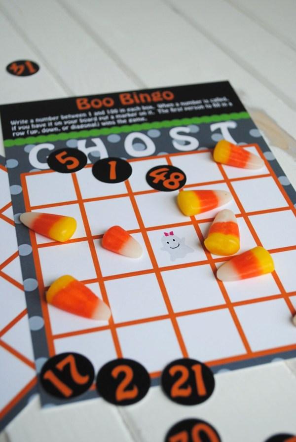 Printable Boo Halloween Bingo Game Set Instant