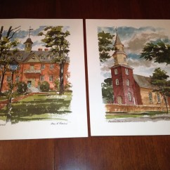 William And Mary Chair Z For Sale Free Shipping Paul N. Norton Watercolor Prints By Connieloulous