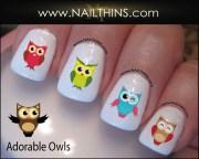owls nail decal nailthins