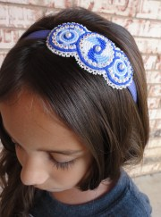 native american beaded circle headband