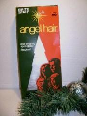 vintage angel hair spun glass christmas