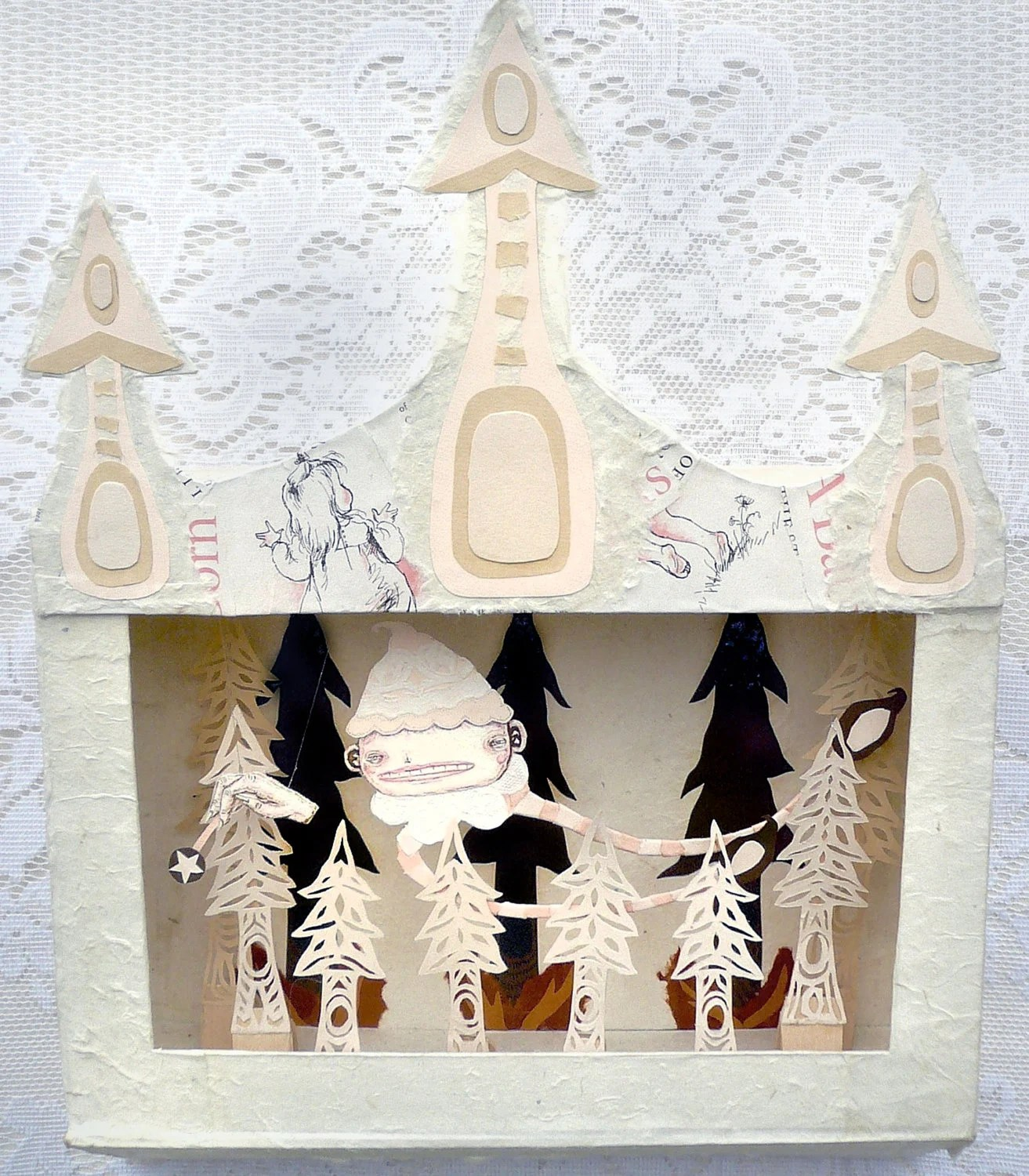 Fine Art Diorama Shadow Box Paper Sculpture Mini Theatre