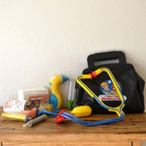 1980s Fisher Doctor' Bag Medical Kit Children'
