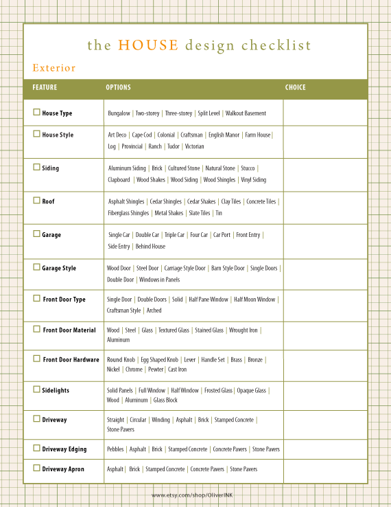 Home Renovation Checklist Home Building Checklist By Oliverink