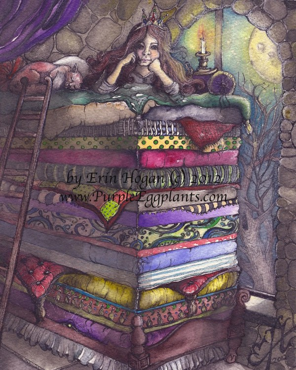 Princess and the Pea Fairy Tale Art